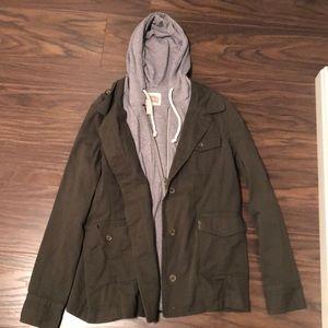 Green/Gray zip up jacket